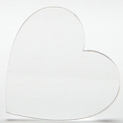 Плексигласово сърце - 6х6 см