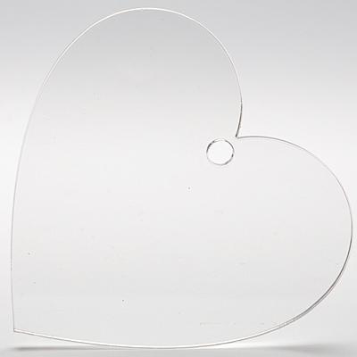 Плексигласово сърце - табелка с 1 дупка - 10х10,5 см