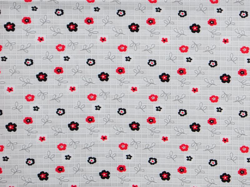 Памучен плат Poplin Цветлета (колекция Калинки) - 50 х 50 см