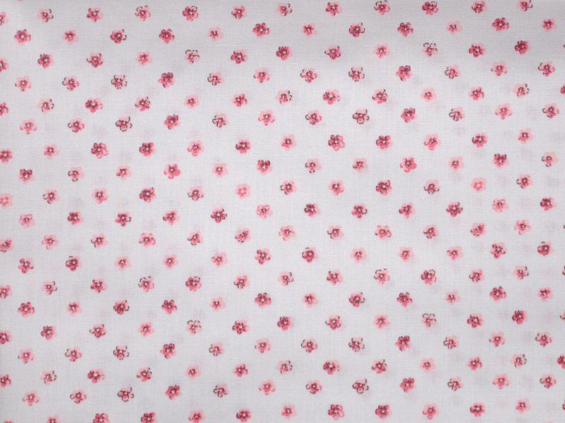 Памучен плат Poplin Cuddly  - 50 х 46 см - Бял фон