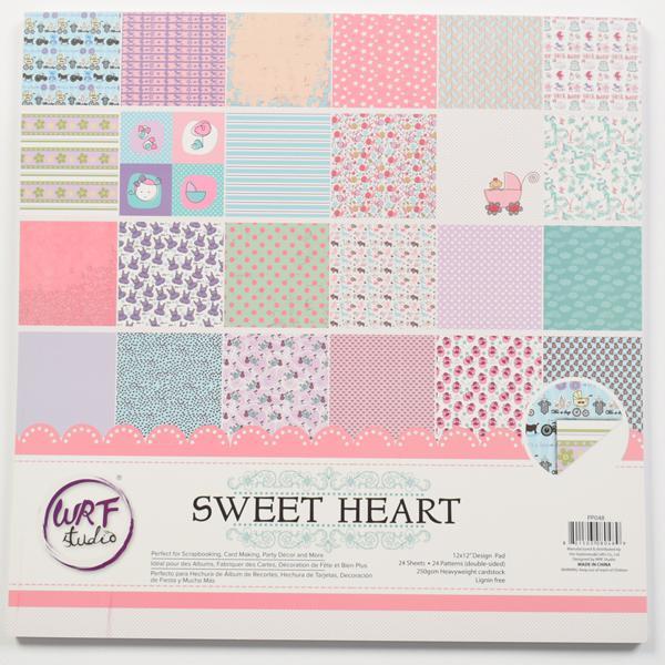 Комплект дизайнерски хартии 24 листа 12х12 in - Sweet heart
