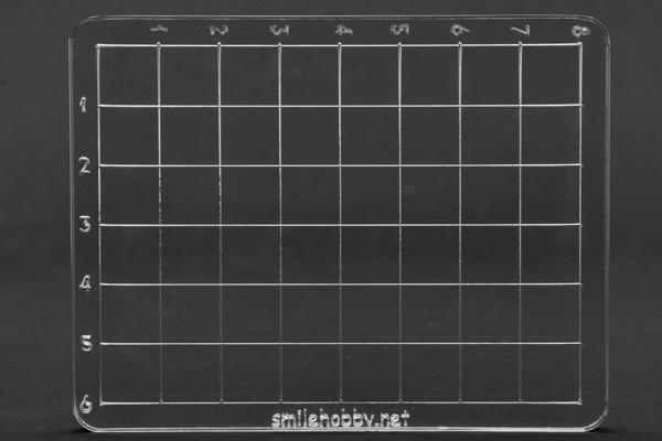 Акрилно блокче разграфено 7х9 см