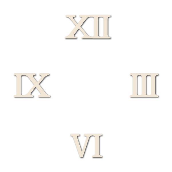 Комплект цифри за часовник - 30мм, римски