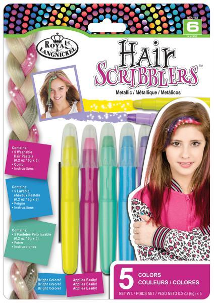Комплект 5 броя металикови пастели за коса