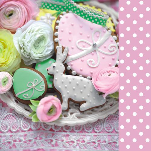 Салфетки NOUVEAU 33 см х 33 см - Sweet Easter pink