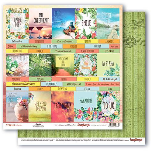 Двустранна дизайнерска хартия 190гр - Tropics