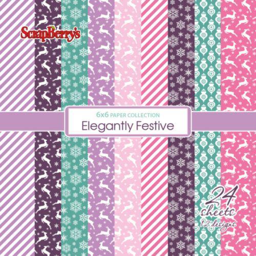Комплект дизайнерски хартии 24 листа 6x6 inch - Elegantly Festive