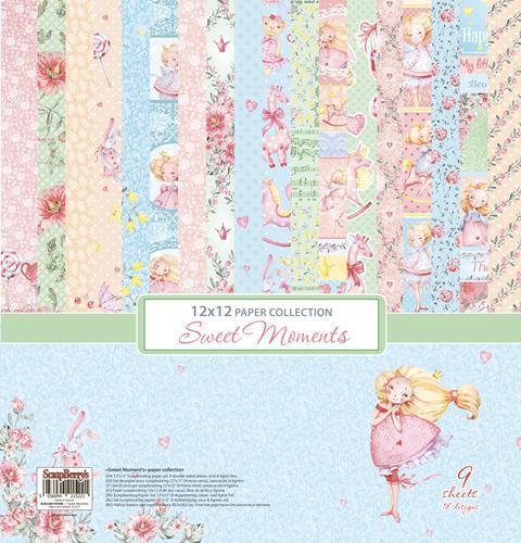 Комплект дизайнерски хартии 9 листа 12x12 inch - Sweet Moments