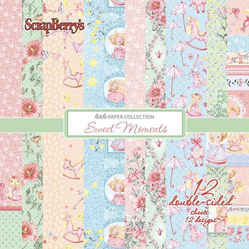 Комплект дизайнерски хартии 12 листа 6x6 inch - Sweet Moments