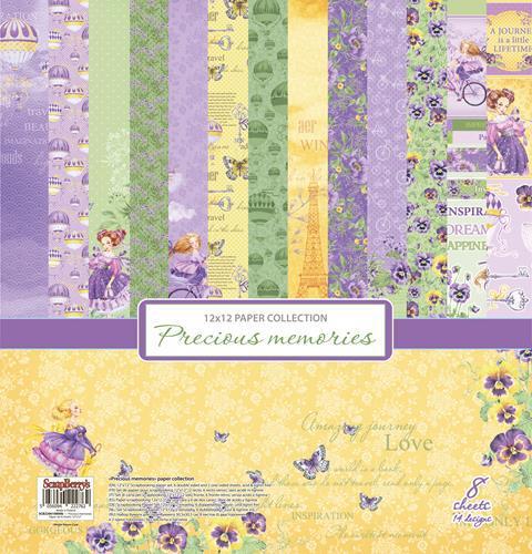 Комплект дизайнерски хартии 8 листа 12x12 inch - Precious Memories