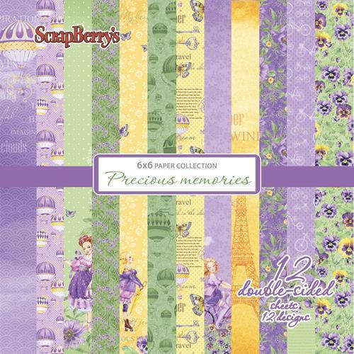 Комплект дизайнерски хартии 12 листа 6x6 inch - Precious Memories 2062