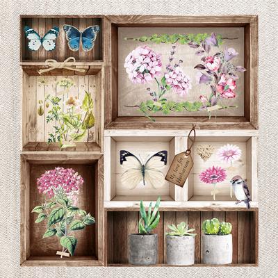 Пакет салфетки NOUVEAU 33х33-20бр-Herbarium