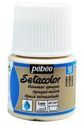Текстилна металик боя Pebeo 45 мл - Слонова кост