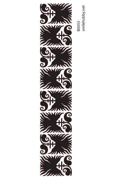 Шаблон за декупаж - 8x22,5cm - B0055