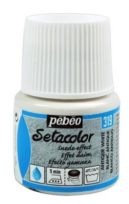 Текстилна кадифена боя Pebeo 45 мл - Антично бяло