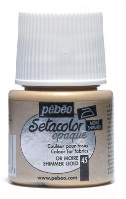 Текстилна металик боя Pebeo 45 мл - злато