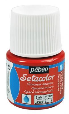 Текстилна металик боя Pebeo 45 мл - Червено