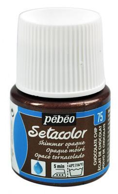 Текстилна металик боя Pebeo 45 мл - Шоколад