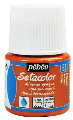 Текстилна металик боя Pebeo 45 мл - Тухла