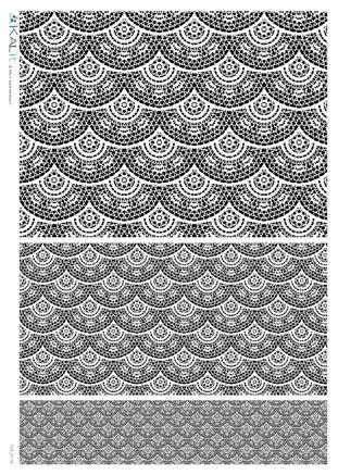 Оризова хартия за декупаж KALit, 32х45 см  - tex_0119
