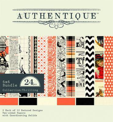Дизайнерски блок, 6х6 инча 24 листа - Authentique Thrilling