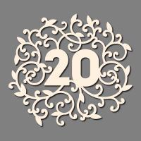 Сет от бирен картон 7х10см - 20 годишнина