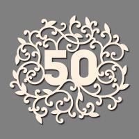 Сет от бирен картон 7х10см - 50 годишнина