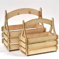 Дървена кошничка - голяма -  22х10,8х20,8 см.