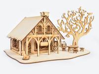 3D Дървена къщичка