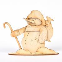 3D Снежен човек с бастунче