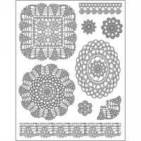 Силиконов печат 14x18 см - Crocheting Motifs