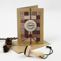 Гумен печат с дървена дръжка - 100% Christmas