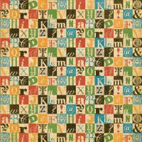 Двустранна дизайнерска хартия - Typography Collection