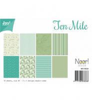 Комплект дизайнерски хартии А4, 12 листа - Ten Mile