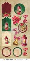 Двустранна дизайнерска хартия 30х15 см, 190 гр - Festive Bells
