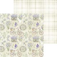 Комплект дизайнерски хартии 6x6 inch, 18 листа 190гр - Lavender Hills