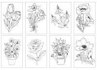 Карти за оцветяване - FLOWERS