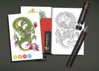 Карти за оцветяване - TATTOO