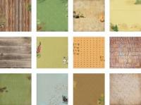 Дизайнерски блок, 6х6 инча 24 листа - Forest