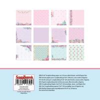 Комплект дизайнерски хартии 24 листа 6x6 inch - Home sweet home