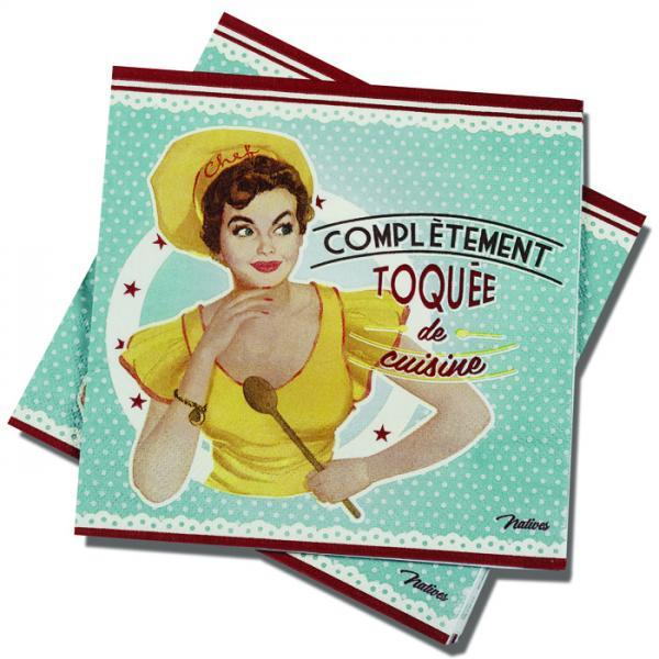 Пакет 20 бр салфетки-NATIVES 33 см х 33 см - Toquée de cuisine
