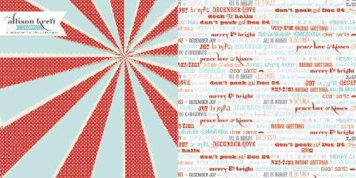 Двустранна дизайнерска хартия - All Is Bright