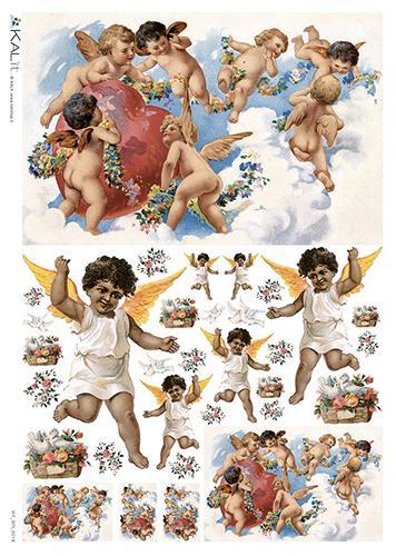 Оризова хартия за декупаж KALit, 32х45 см - Ангели