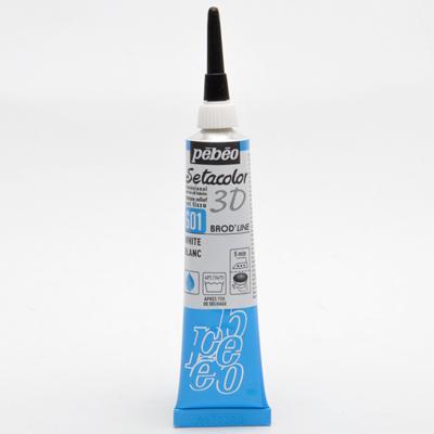 3D Обемен контур за текстил - White 601